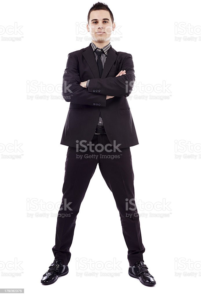 Full length of successful businessman royalty-free stock photo