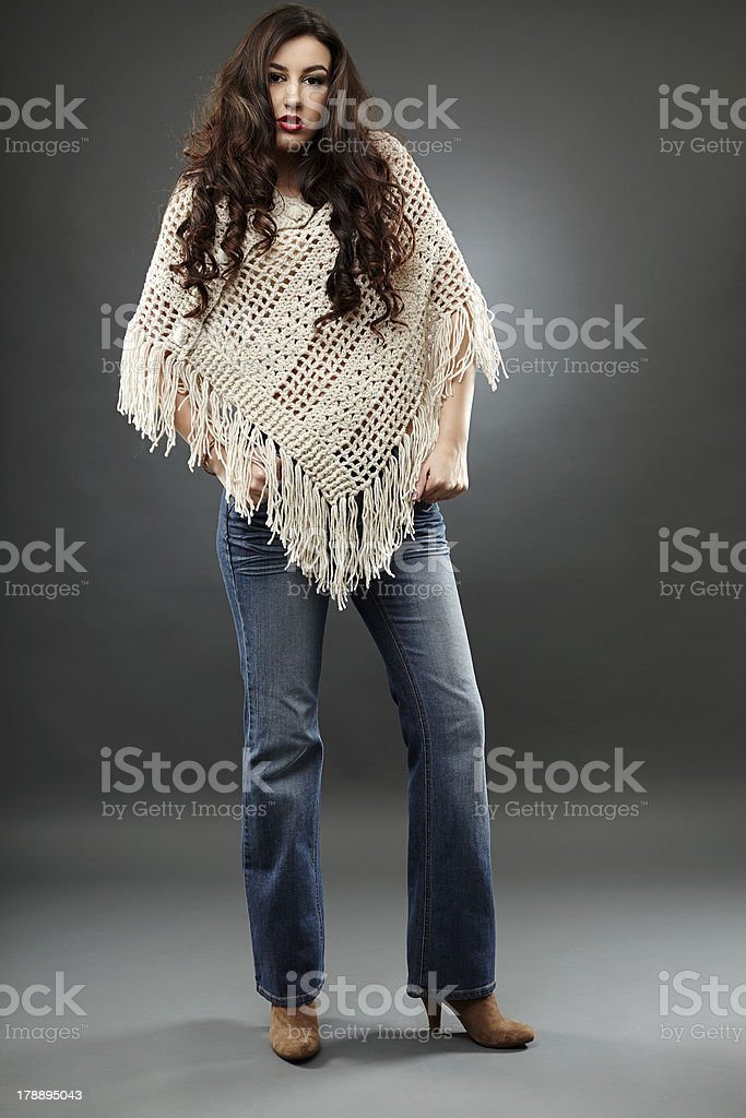 Full length of young cowgirl stock photo