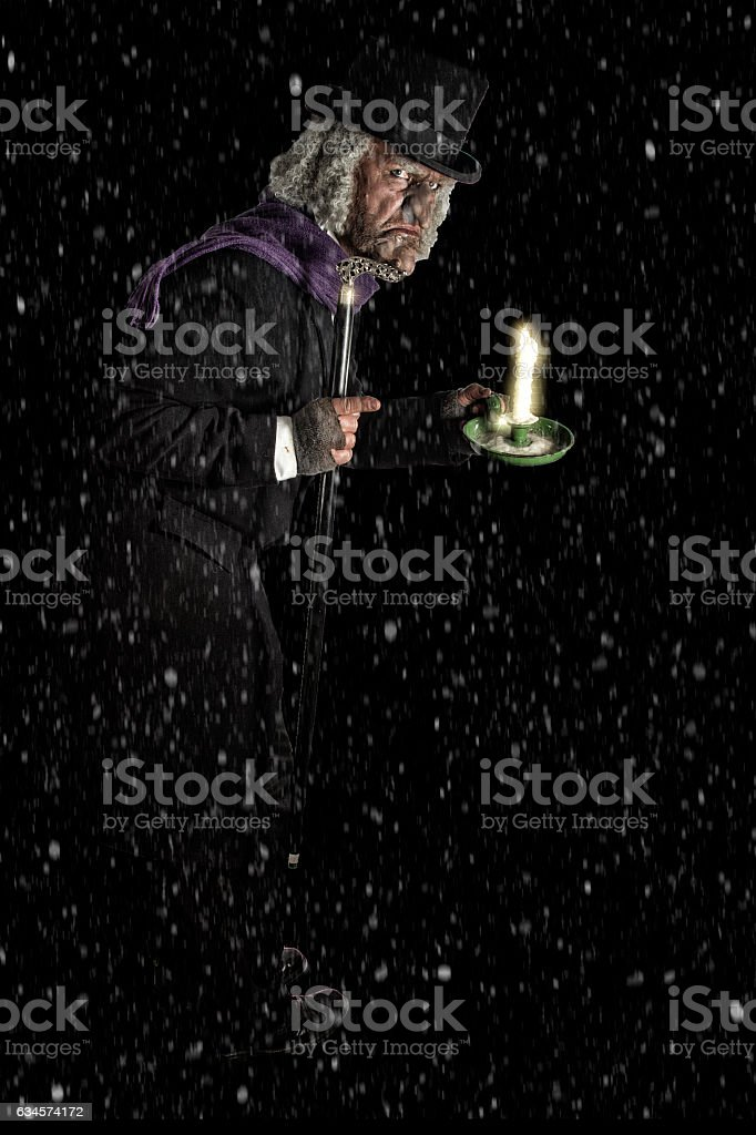 Full length photograph of a man in costume stock photo