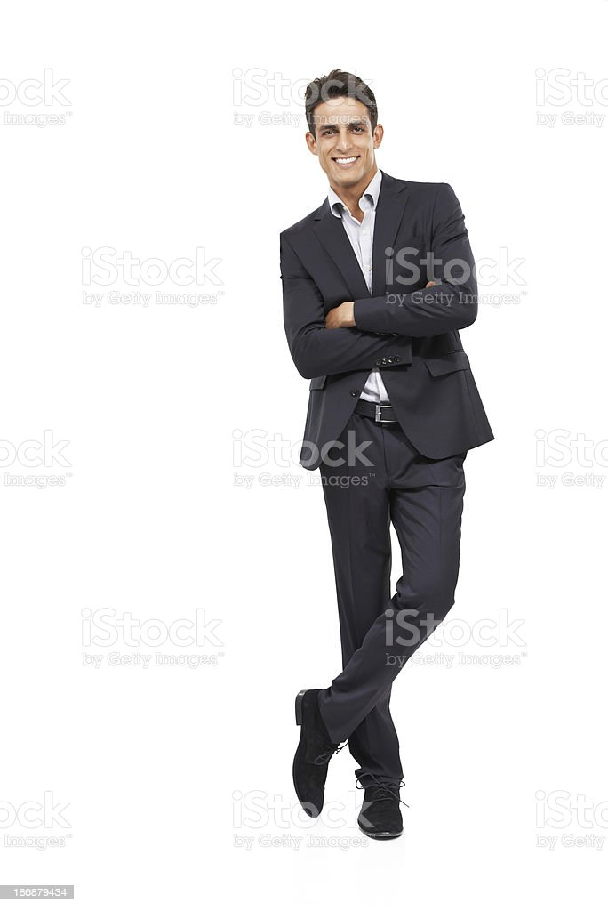 He's got the utmost confidence in your copyspace royalty-free stock photo