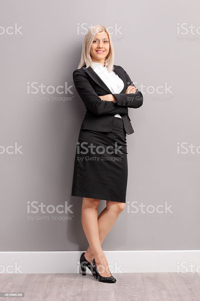 Full length portrait of a young businesswoman stock photo