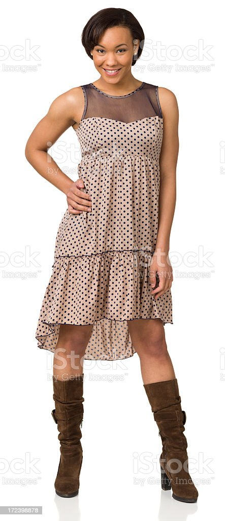 Full Length Portrait Of Casual Young Woman royalty-free stock photo