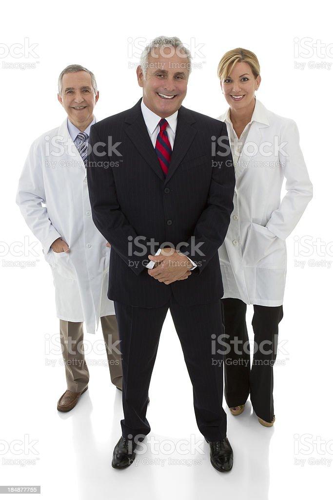 Full length shot of three professionals royalty-free stock photo