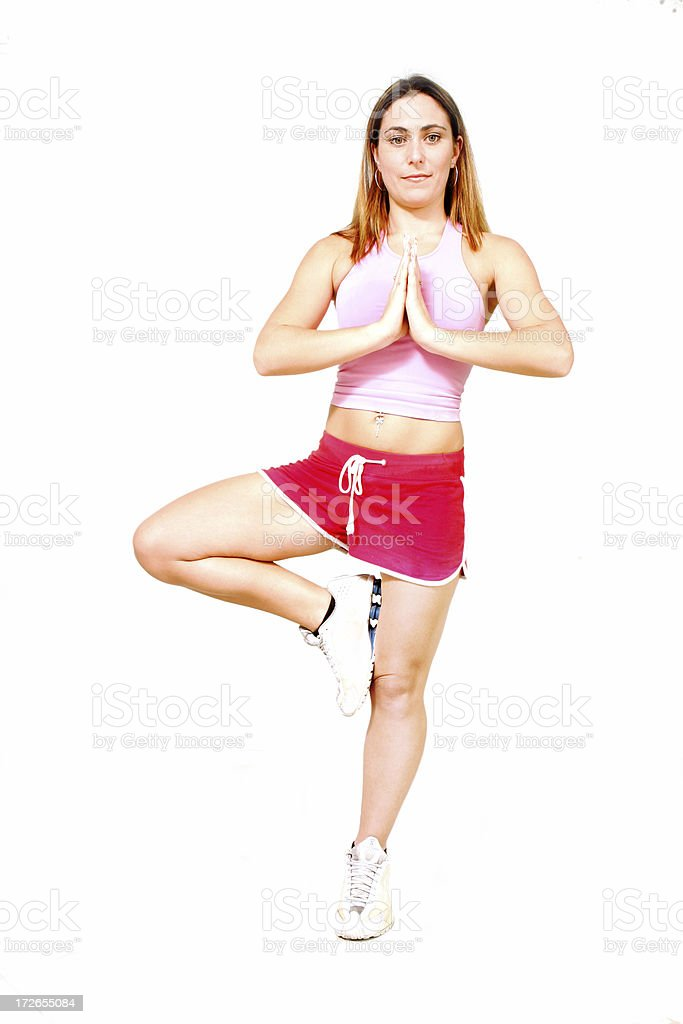 Full length Yoga royalty-free stock photo