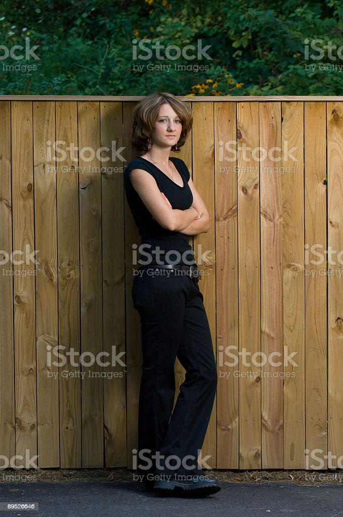 Full Length Young Woman Outdoors royalty-free stock photo