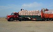 Full loaded Truck in Inner Mongolia's far west, China