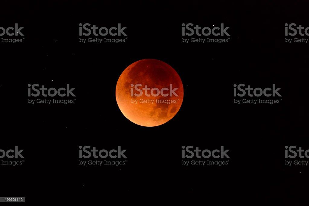 Full Lunar Eclipse - September 2015 stock photo