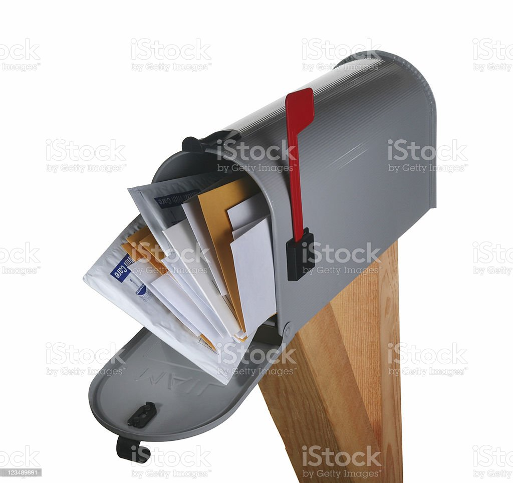 full mailbox royalty-free stock photo