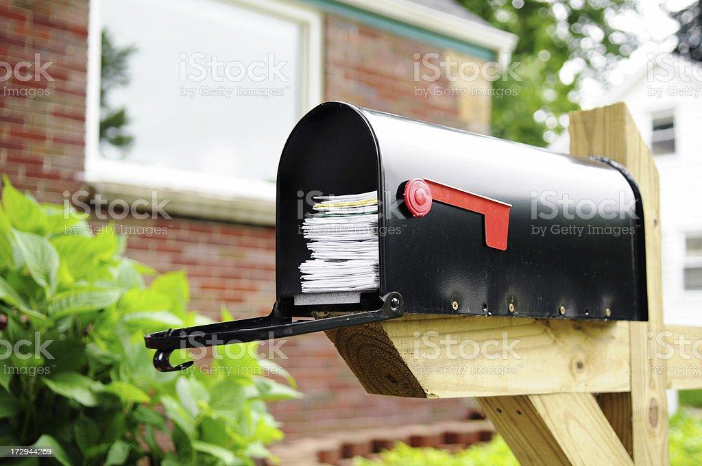 Full Mailbox stock photo