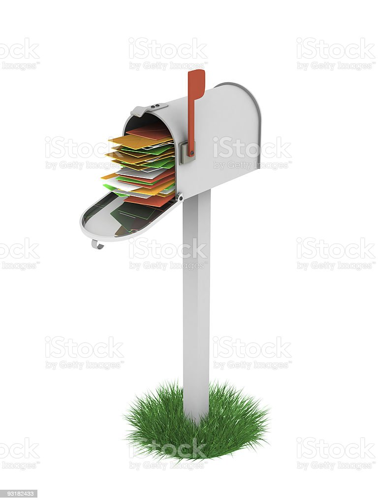 Full Mailbox stock photo