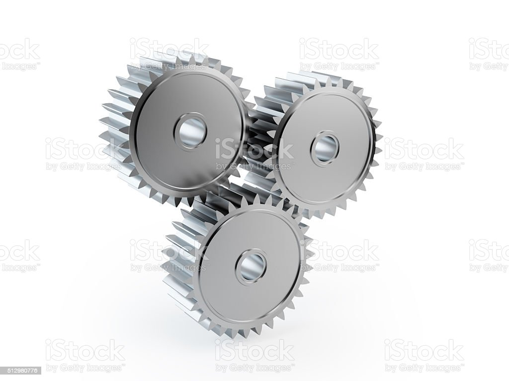 Full Metal Cog Wheels stock photo