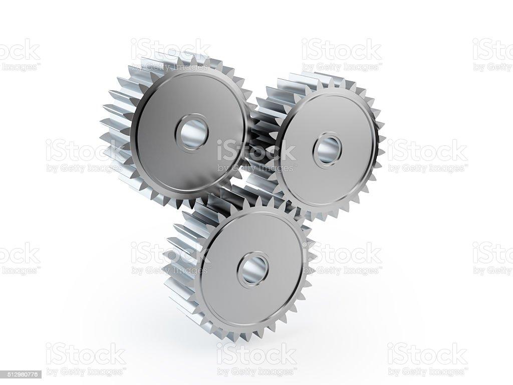 Full Metal Cog Wheels stock photo