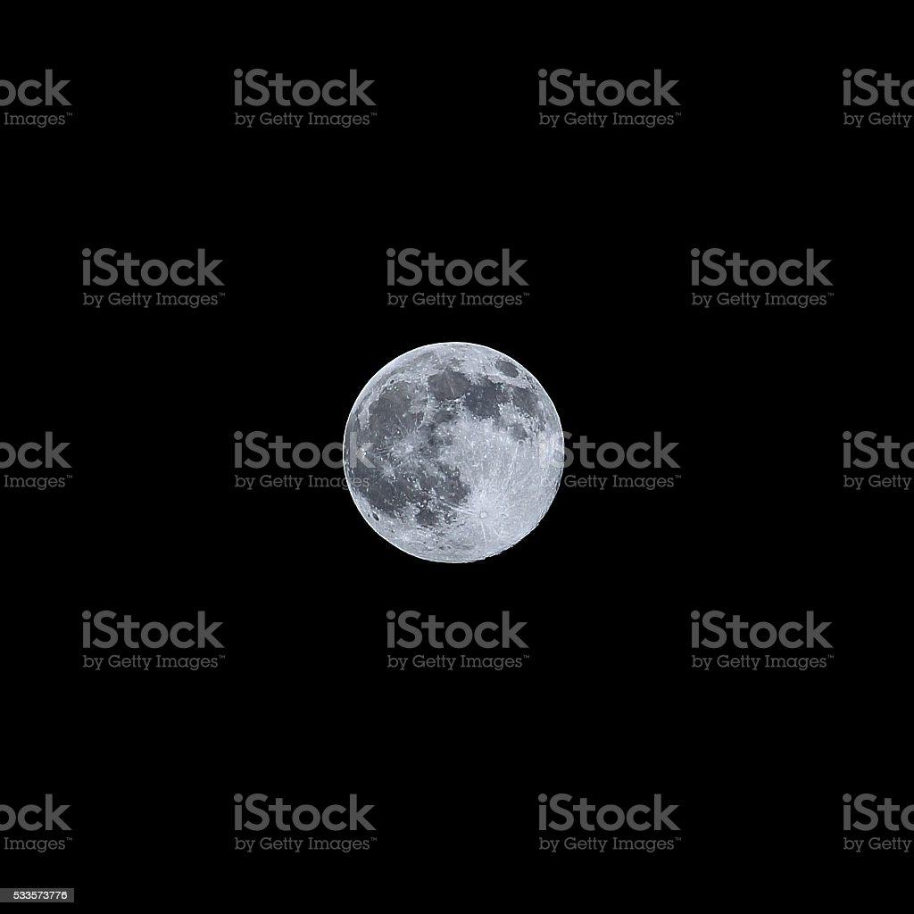 Full moon 2016 stock photo