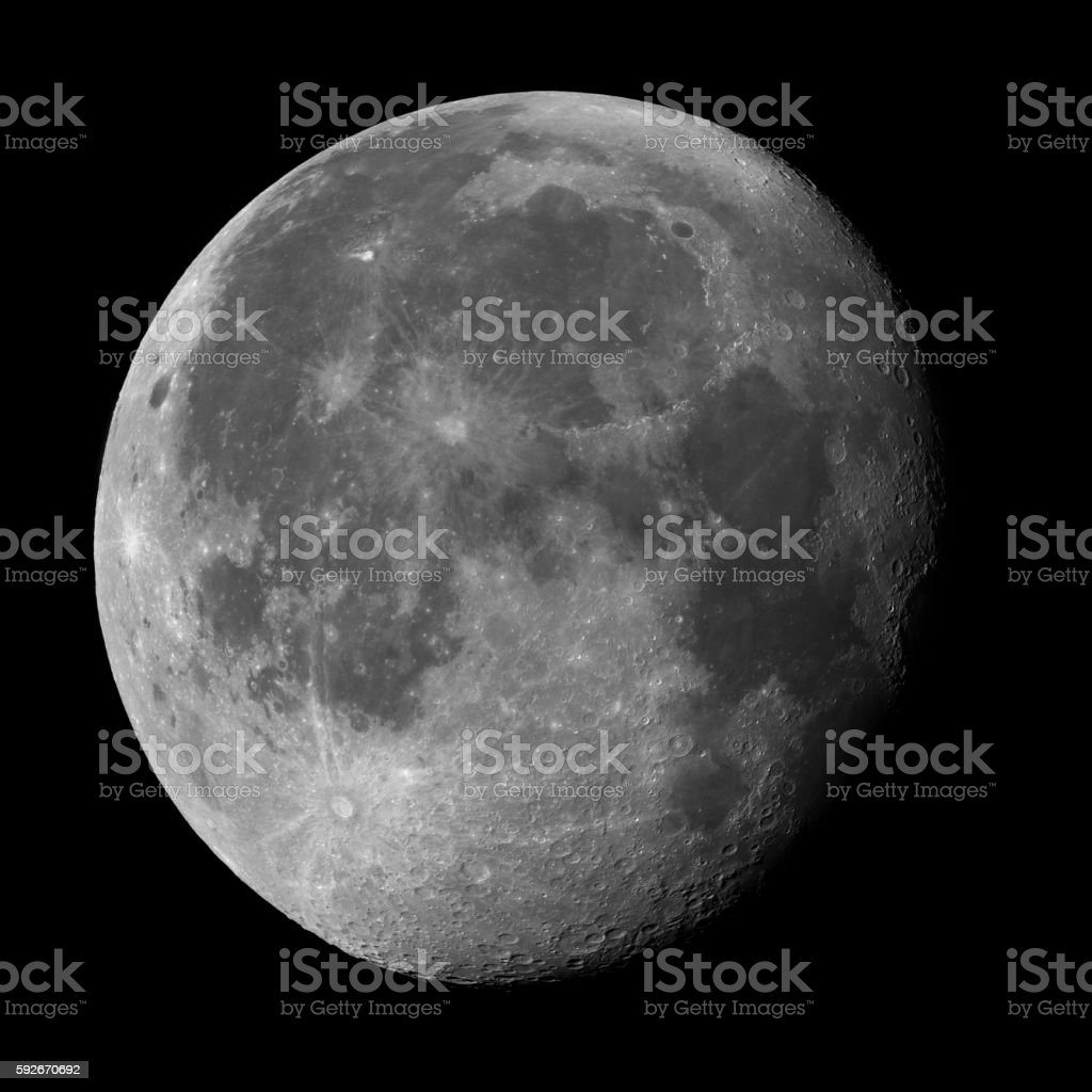 Full moon - 95,6% surface stock photo