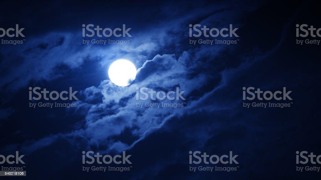 Full moon against night sky stock photo