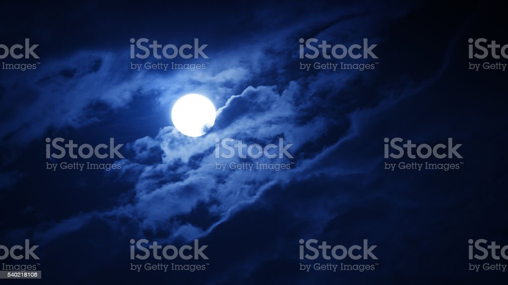 Full moon against night sky stock photo