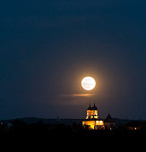 Full moon and a church
