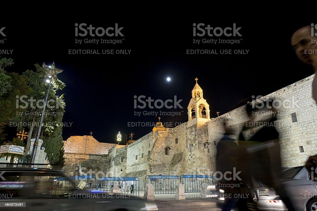 Full Moon at Bethlehem's Manger Square royalty-free stock photo