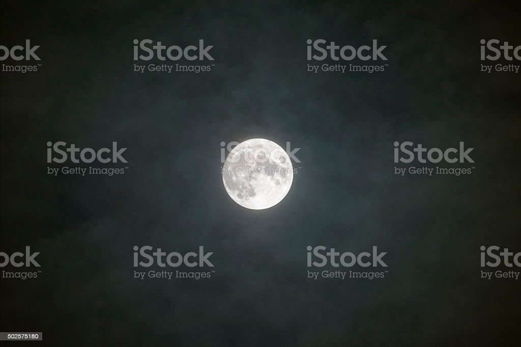 Full moon at Christmas Eve stock photo
