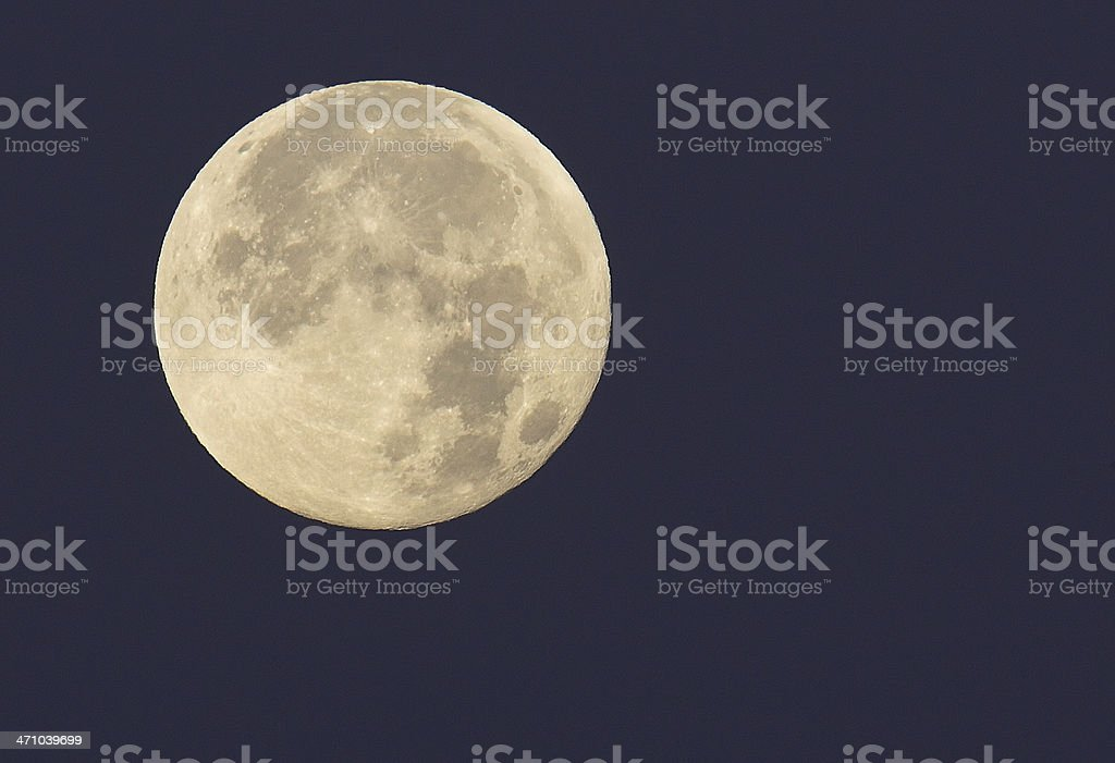 Full Moon close up stock photo