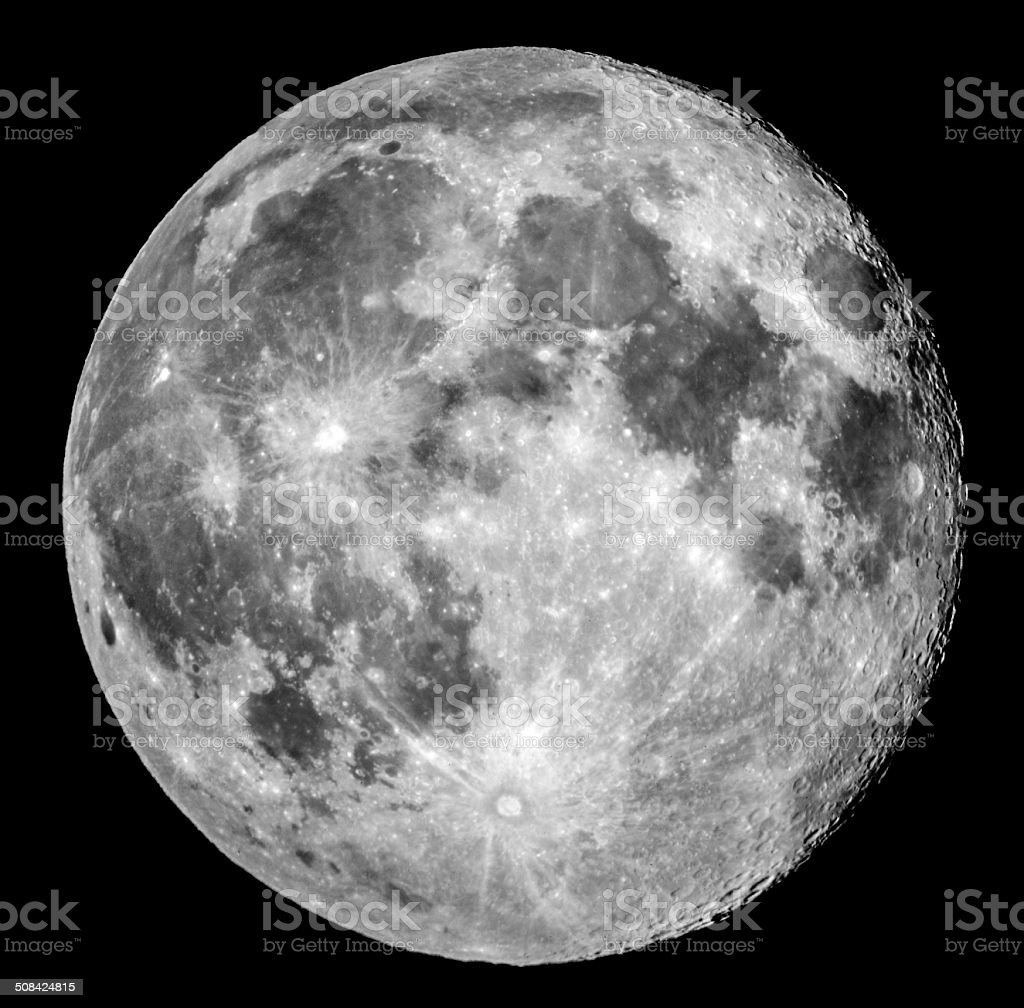 Full Moon in apogee stock photo