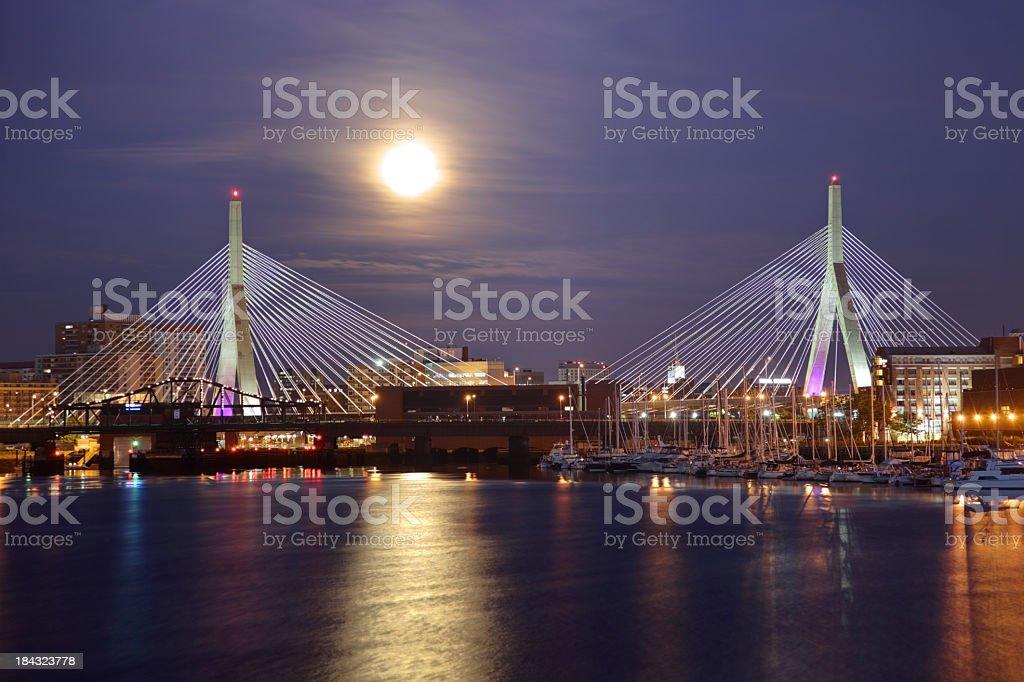 Full Moon in Boston stock photo