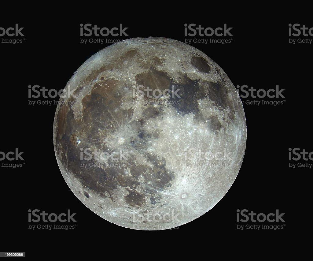 Full moon in full color stock photo