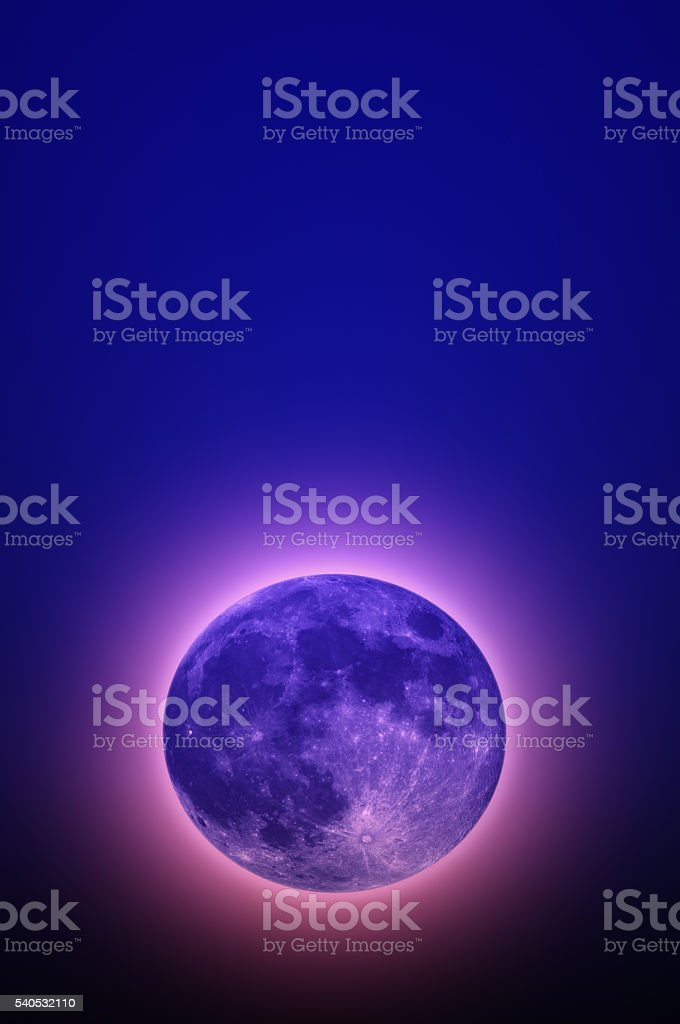 Full moon in space stock photo