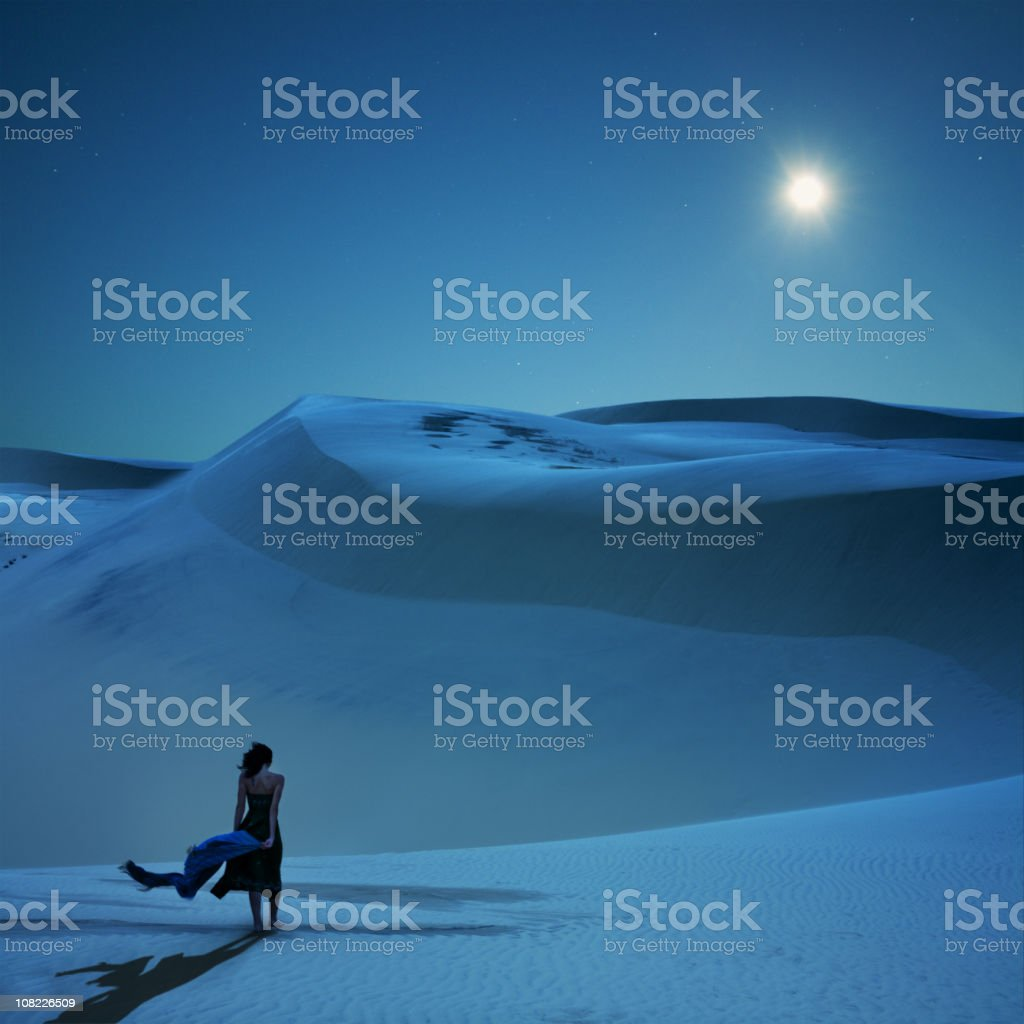 Full moon is calling royalty-free stock photo