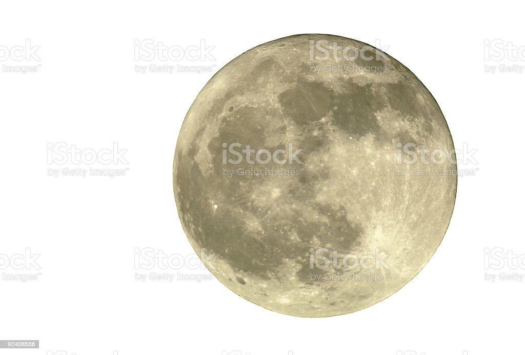 Full Moon, Isolated stock photo