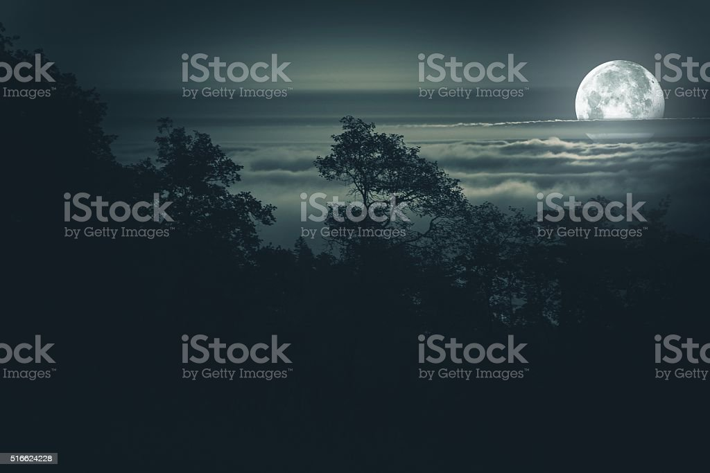 Full Moon Night Background stock photo