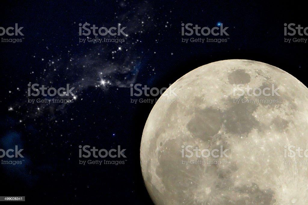full moon night. stock photo