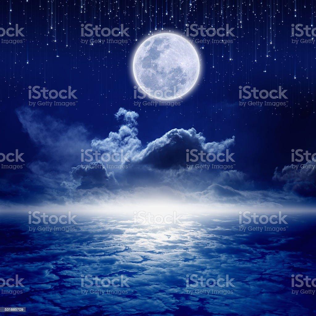 Full moon night stock photo