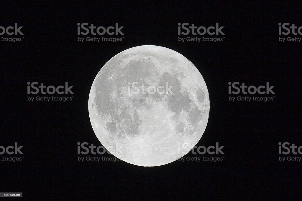 Full Moon On a Clear Night royalty-free stock photo
