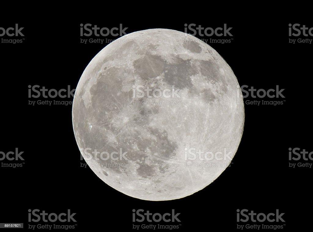 Full moon over Florida stock photo