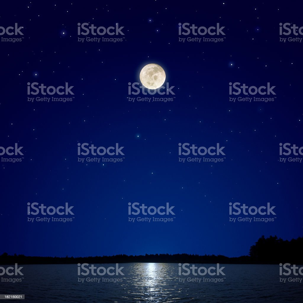Full Moon Over New Hampshire royalty-free stock photo