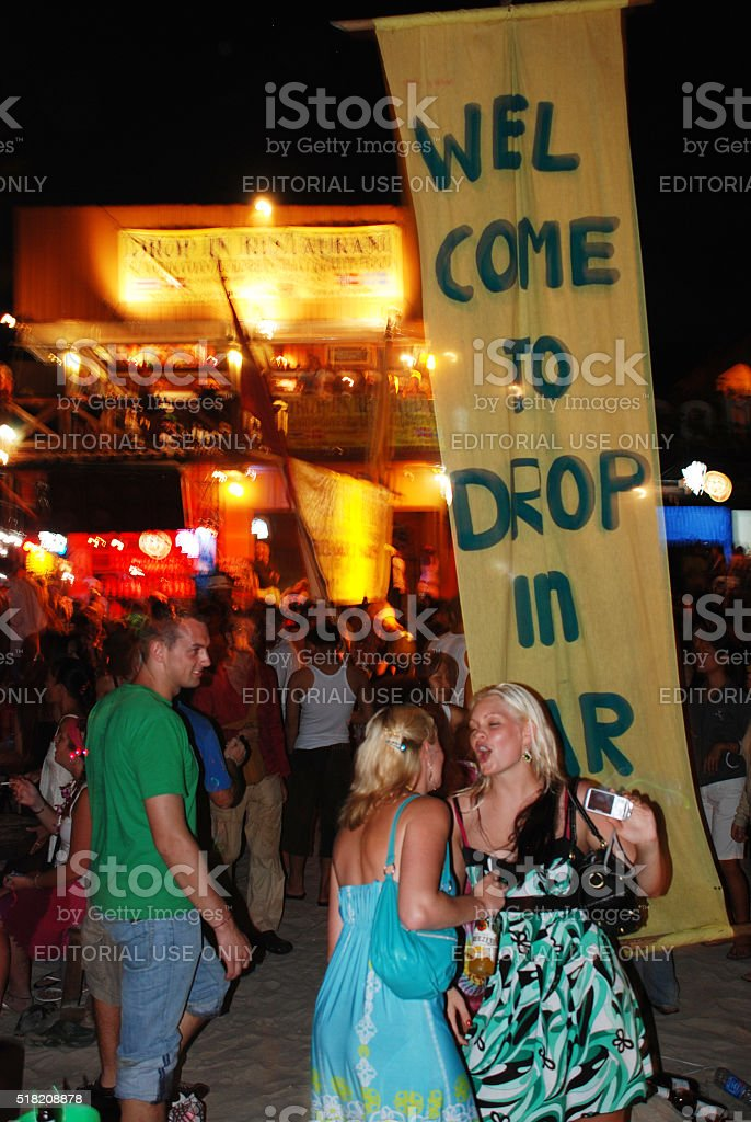 Full Moon Party on Ko Phangan, Thailand stock photo