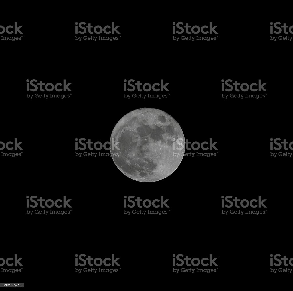 Full moon phase stock photo