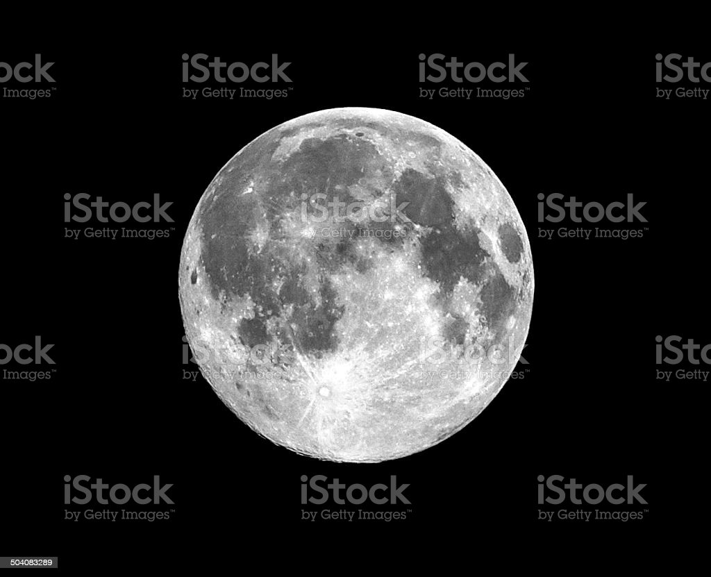 Full Moon 'Supermoon' from July 2014 stock photo