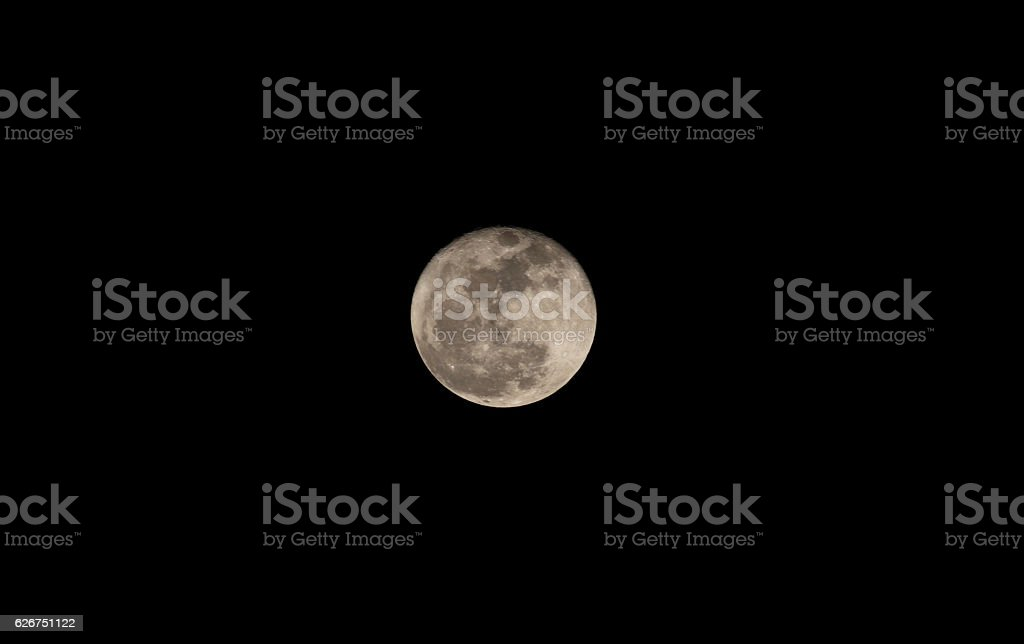 Full Moon taken from Thailand on Loy Krathong day stock photo
