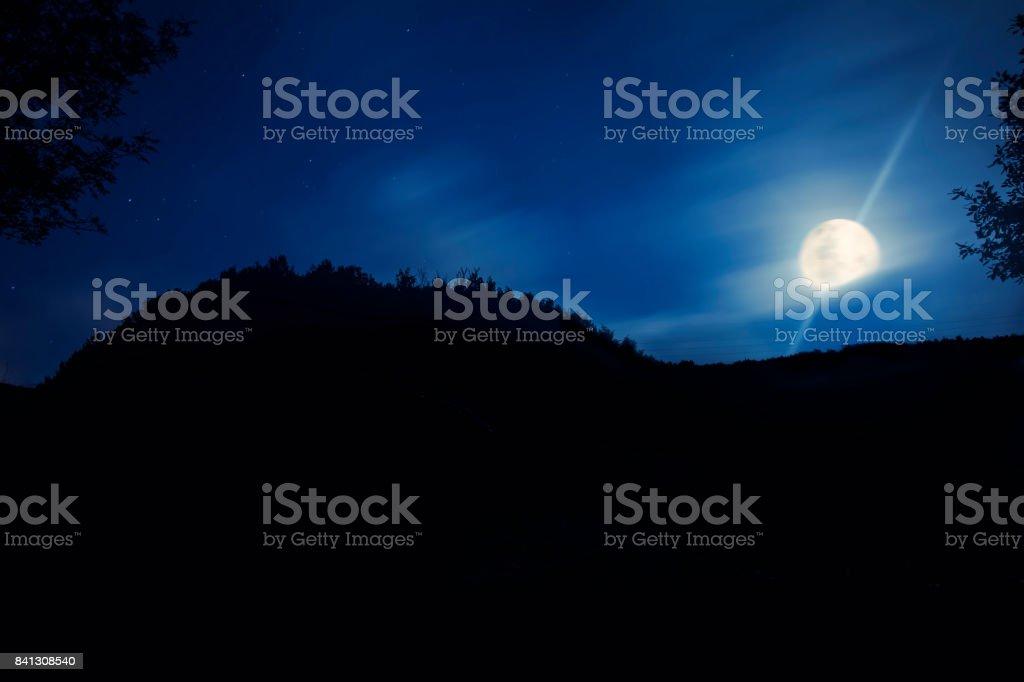 Full Moon View stock photo