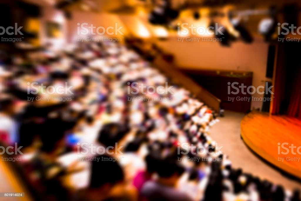 Full of Audiences Background stock photo