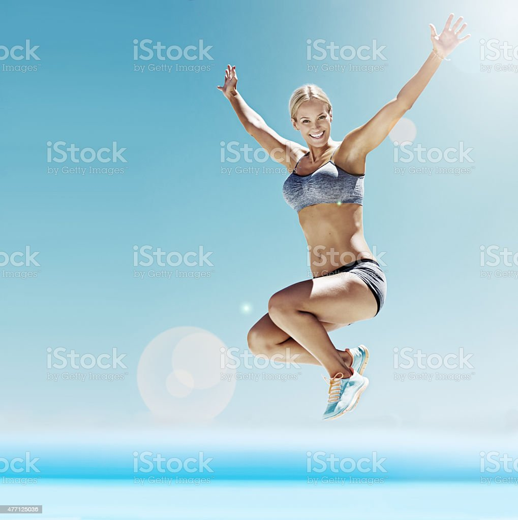 Full of energy and enthusiasm stock photo