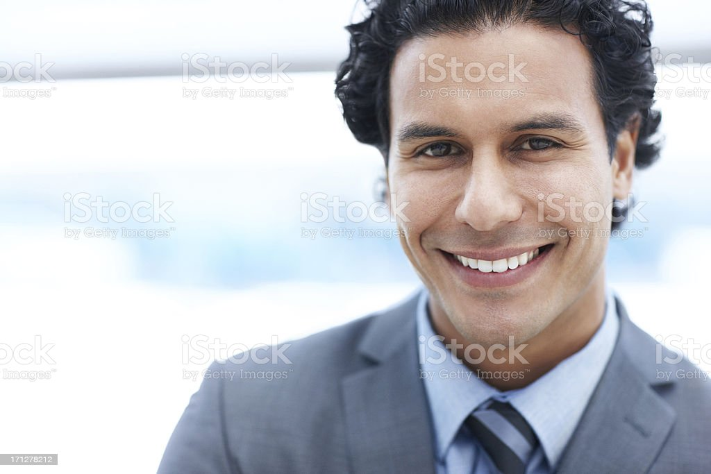 Full of optimism that you can trust stock photo