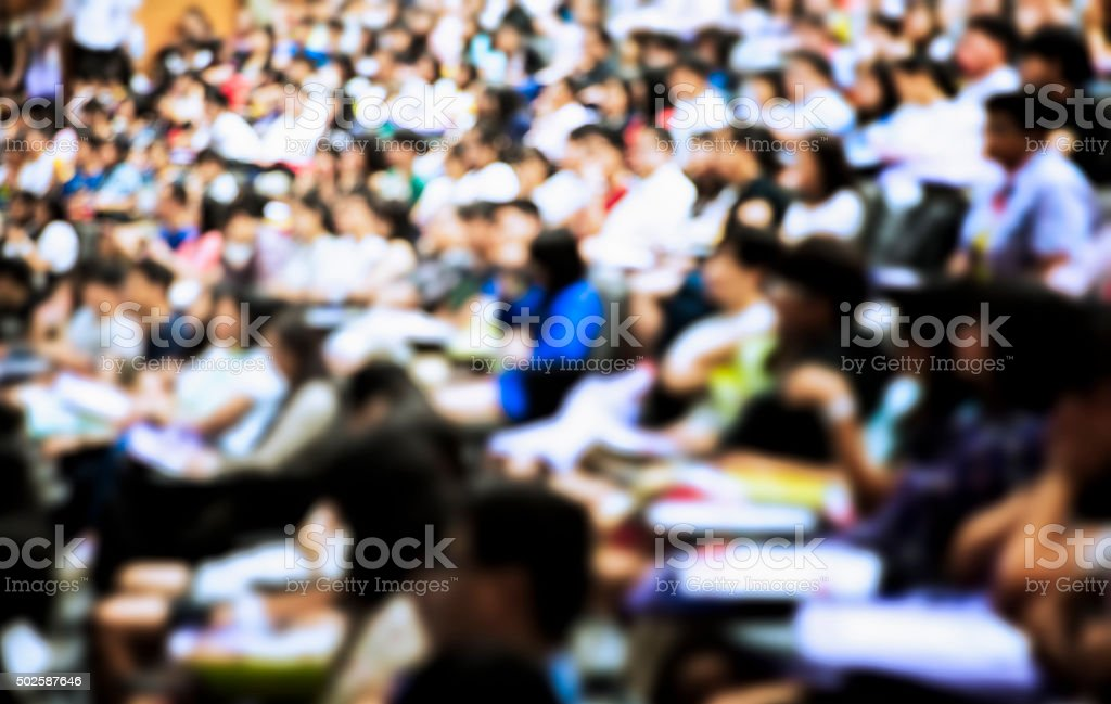 Full of Students Background stock photo