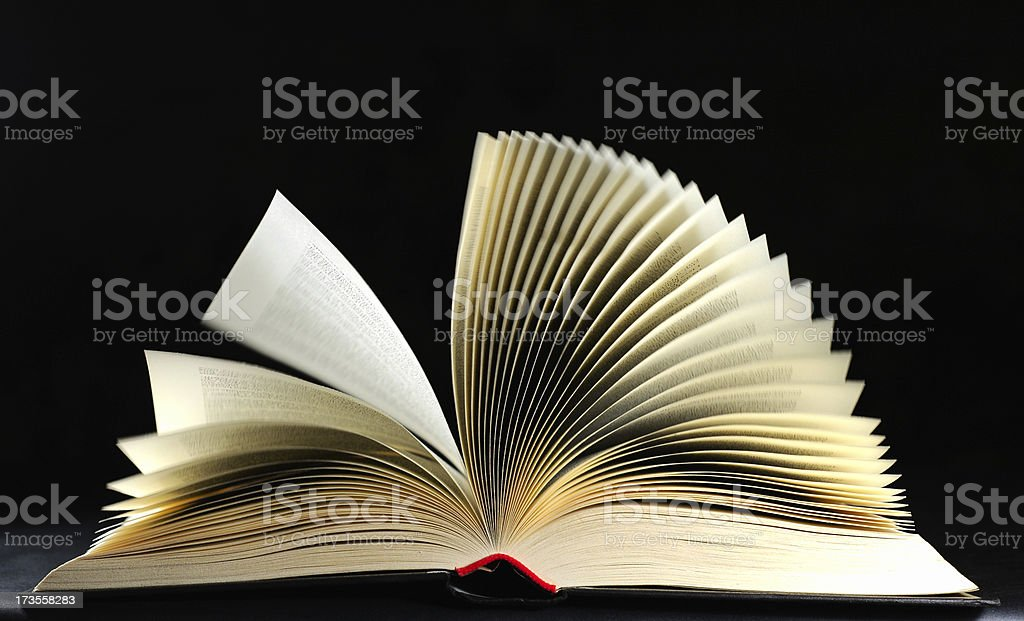 Full open book royalty-free stock photo