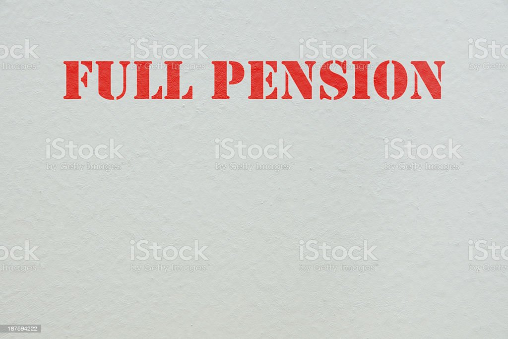 full pension royalty-free stock photo