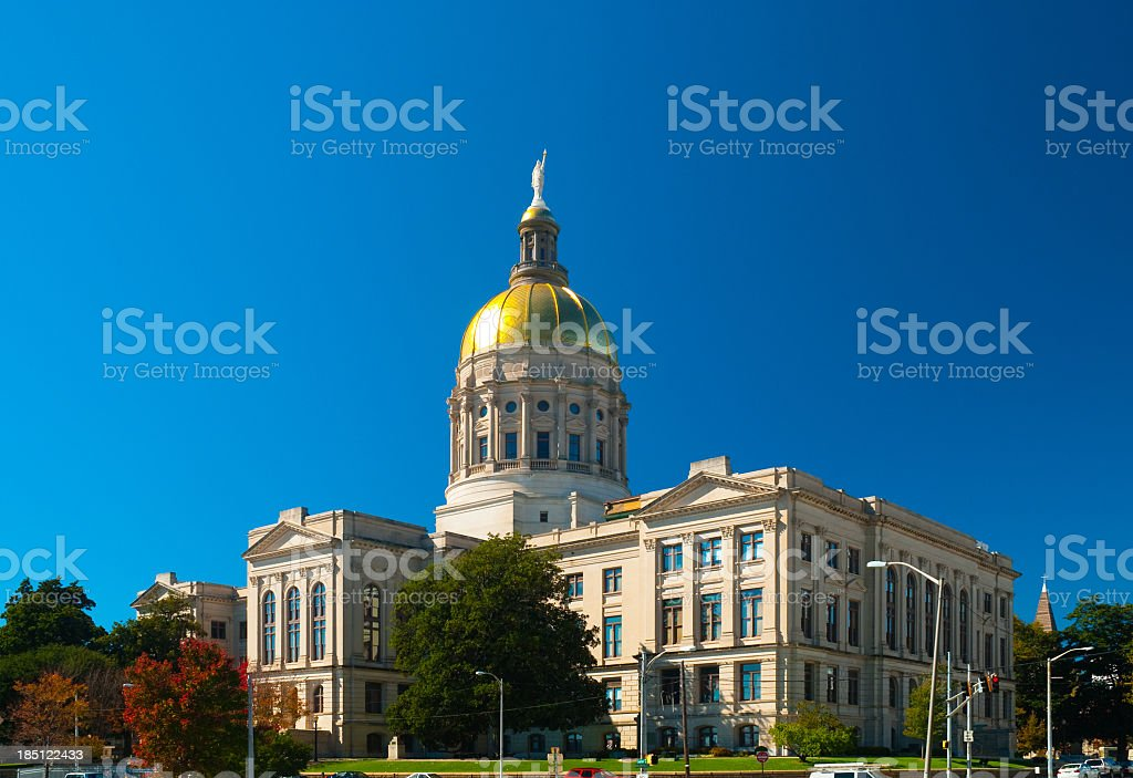 A full photo of the Georgia State Capitol Building stock photo