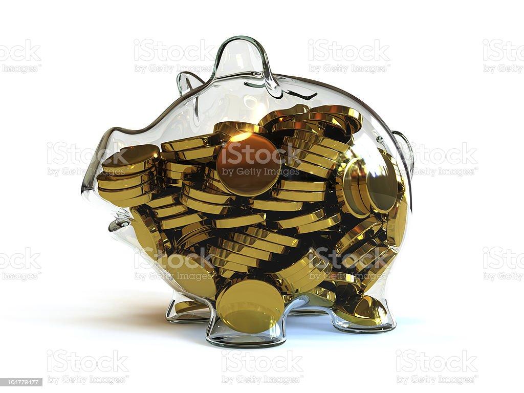 Full Piggy Bank royalty-free stock photo
