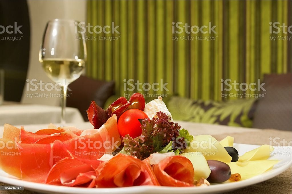 Full plate of appetizers royalty-free stock photo